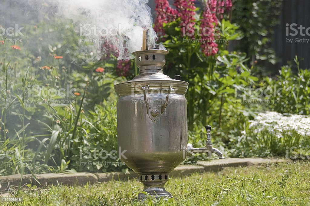 Samovar kindling royalty-free stock photo