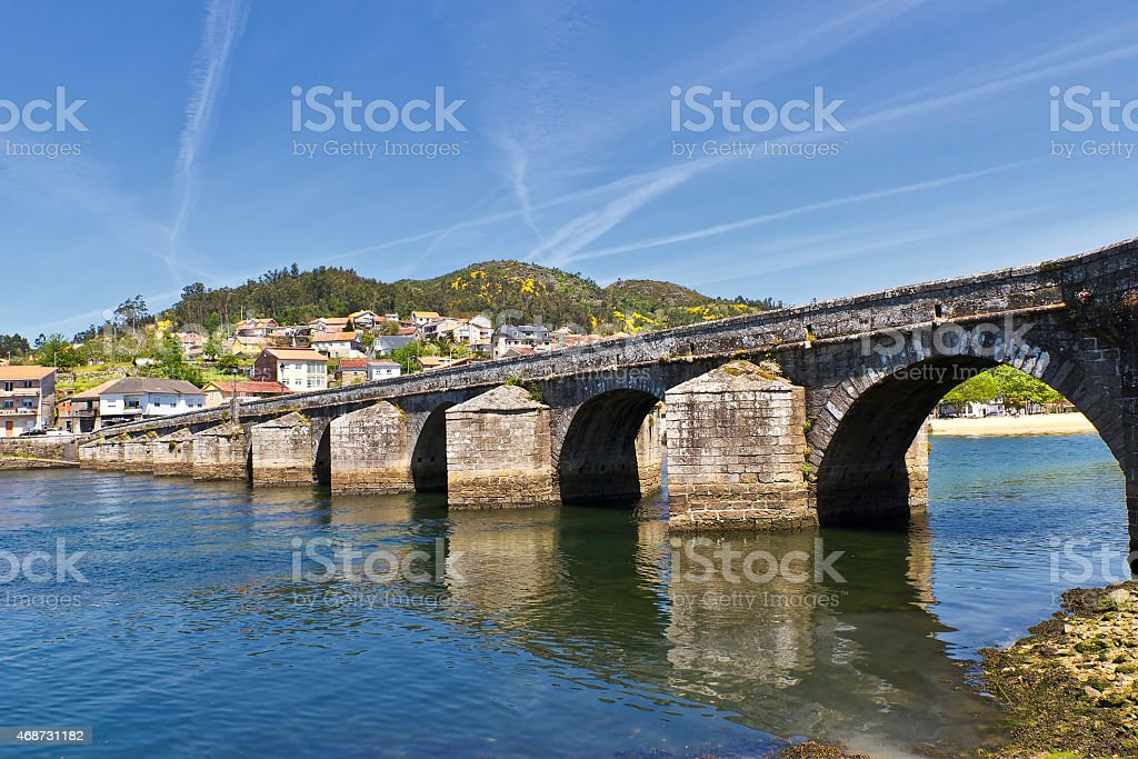 Sampaio bridge stock photo