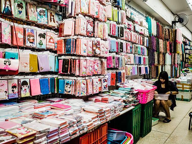 Sampeng market Bangkok stock photo