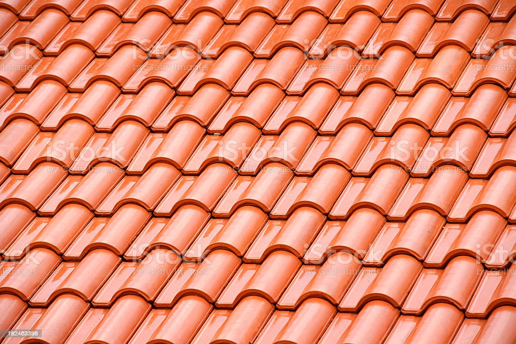 A sample background of a roof tile pattern royalty-free stock photo