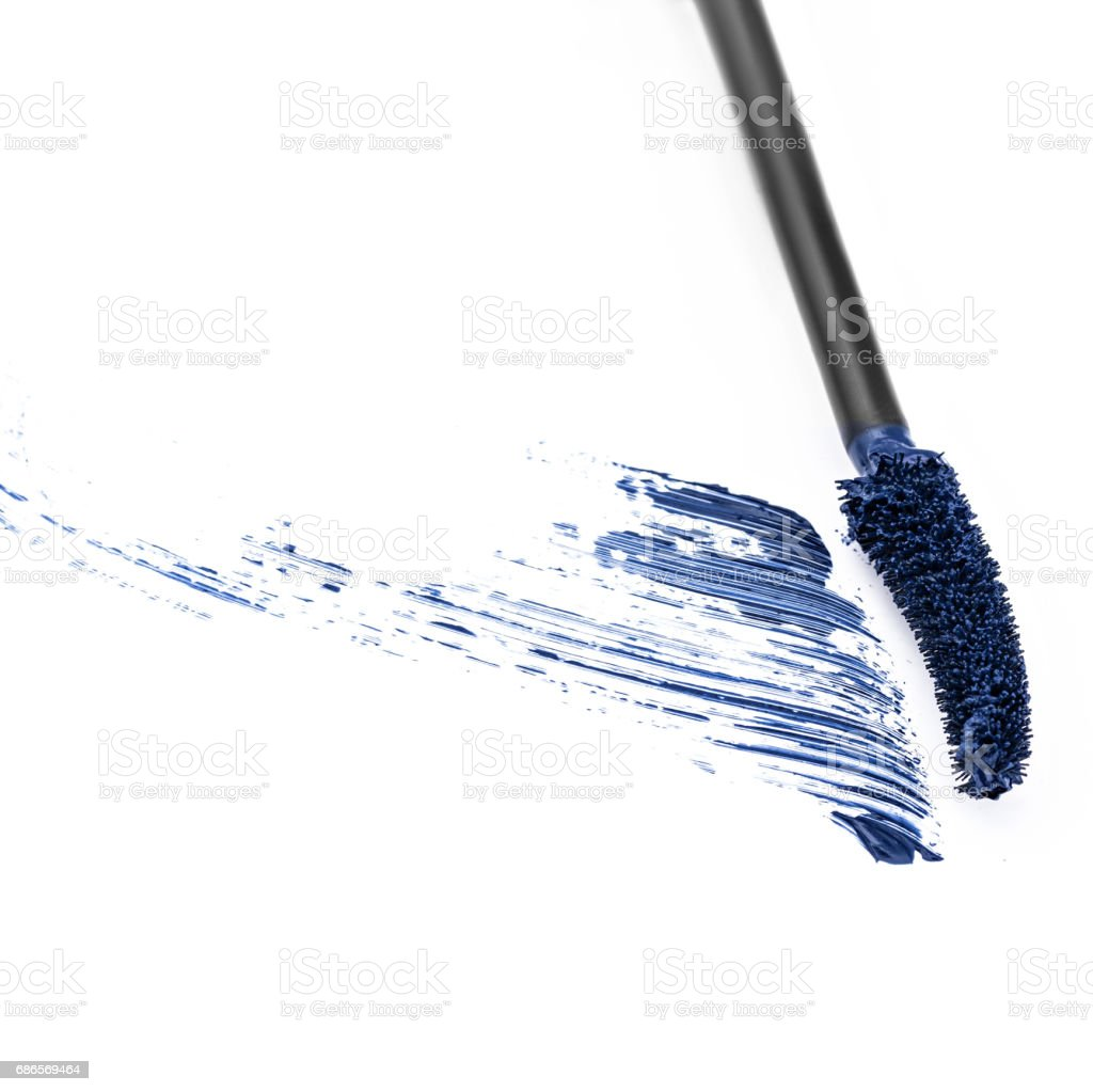 monster blauw mascara royalty free stockfoto