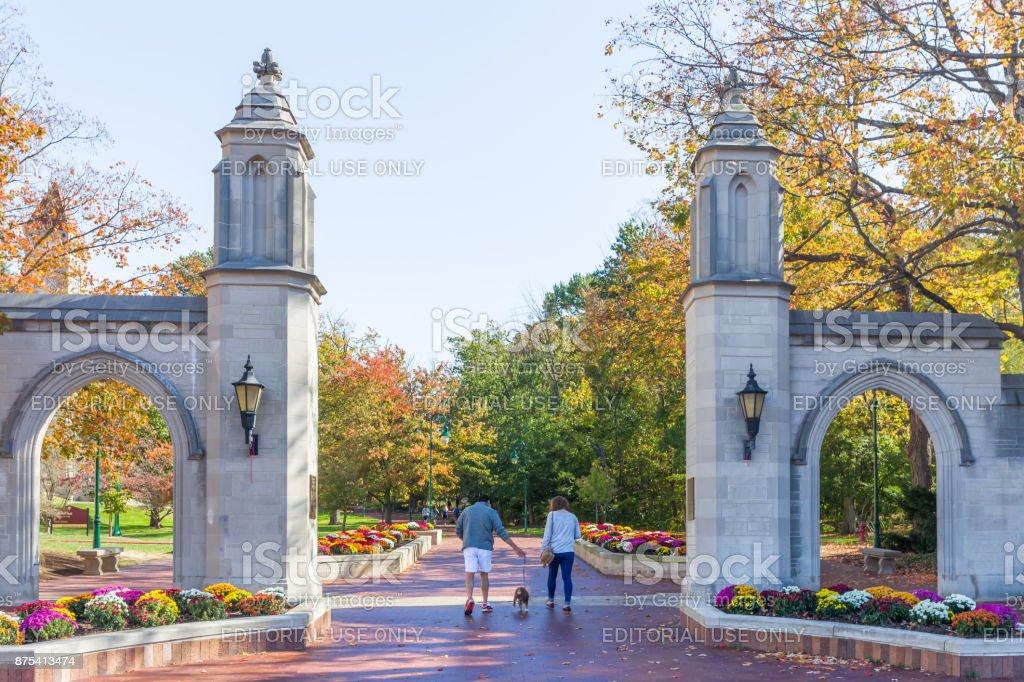 Sample Gates at University of Indiana stock photo