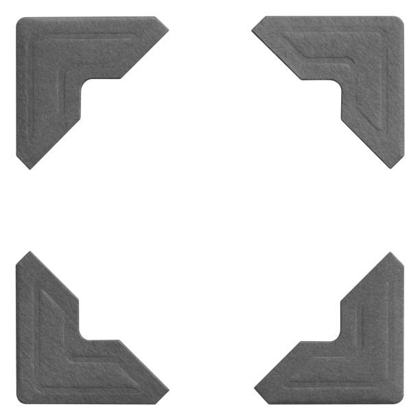 sample images of four matching photo frame corners - photo corner stock photos and pictures
