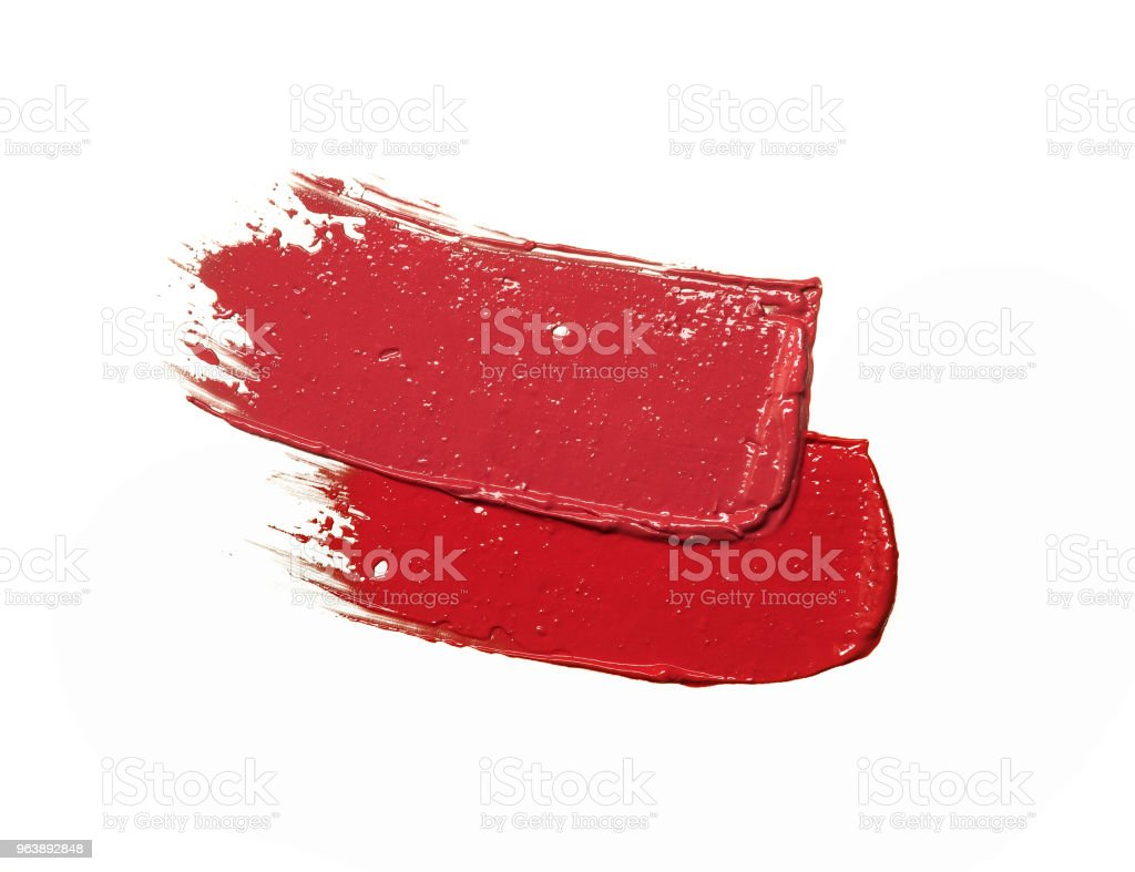 Sample Lipstick on White Background - Royalty-free 1980-1989 Stock Photo