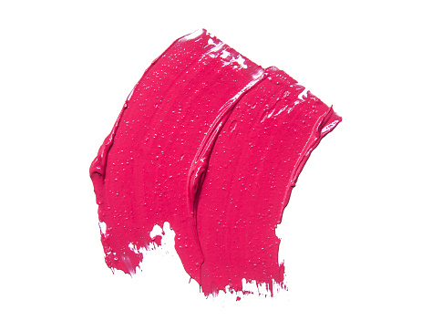 Sample Lipstick On White Background Stock Photo - Download Image Now