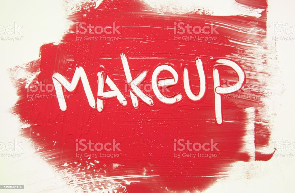 Sample Lipstick on White Background - Royalty-free 1980-1989 Stock Photo