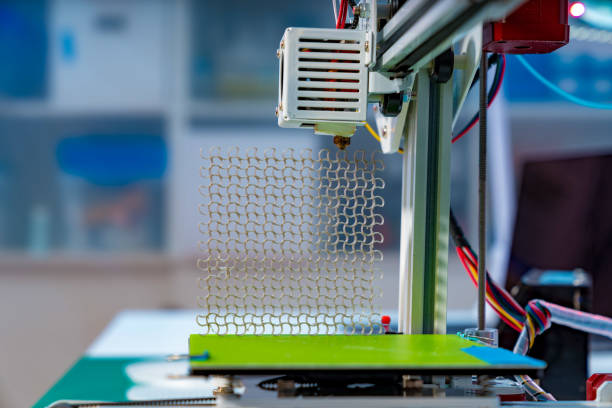 Sample metamaterial manufactured by 3d printing stock photo