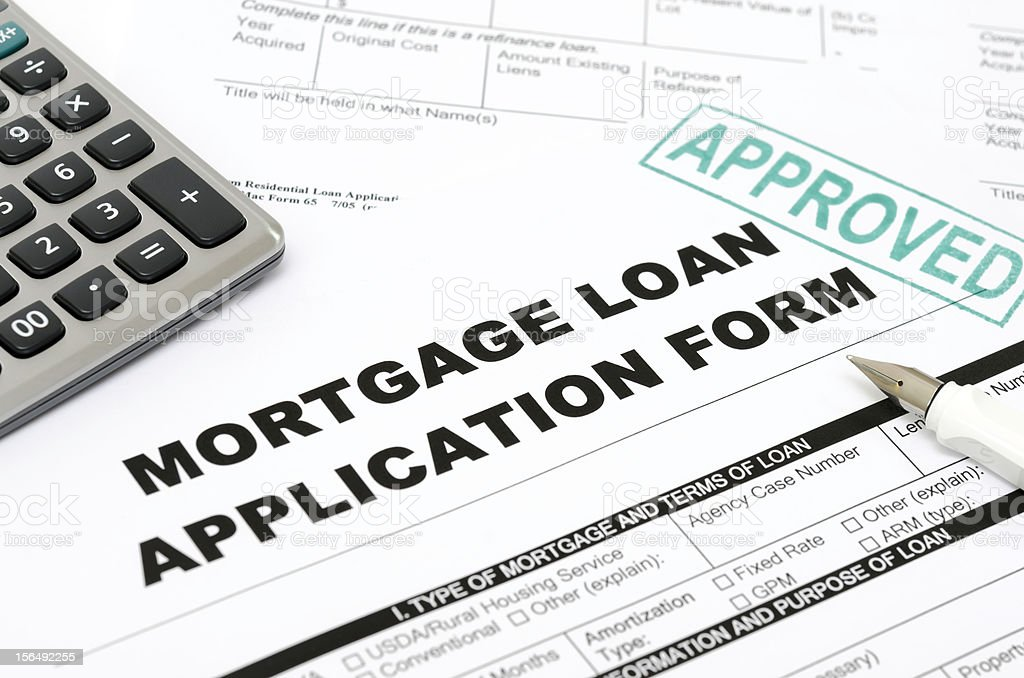 A sample of an approved mortgage loan royalty-free stock photo