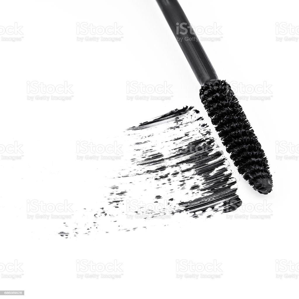 sample of black mascara stock photo