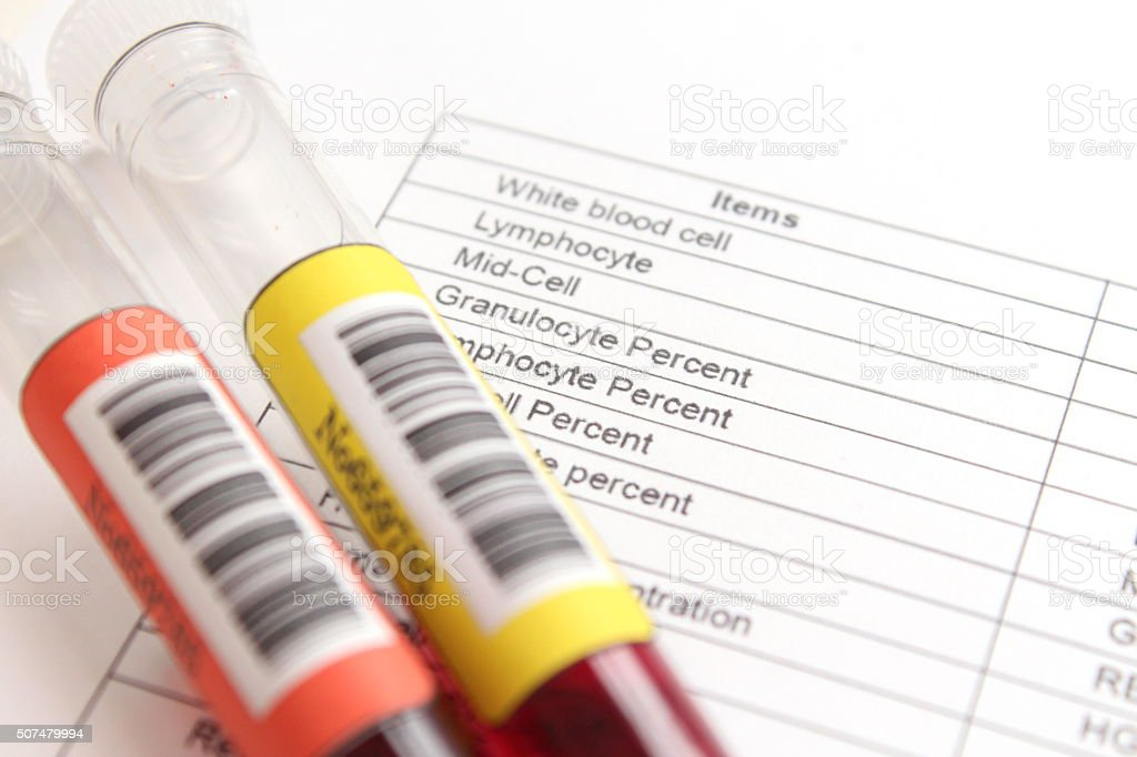sample of blood collection stock photo