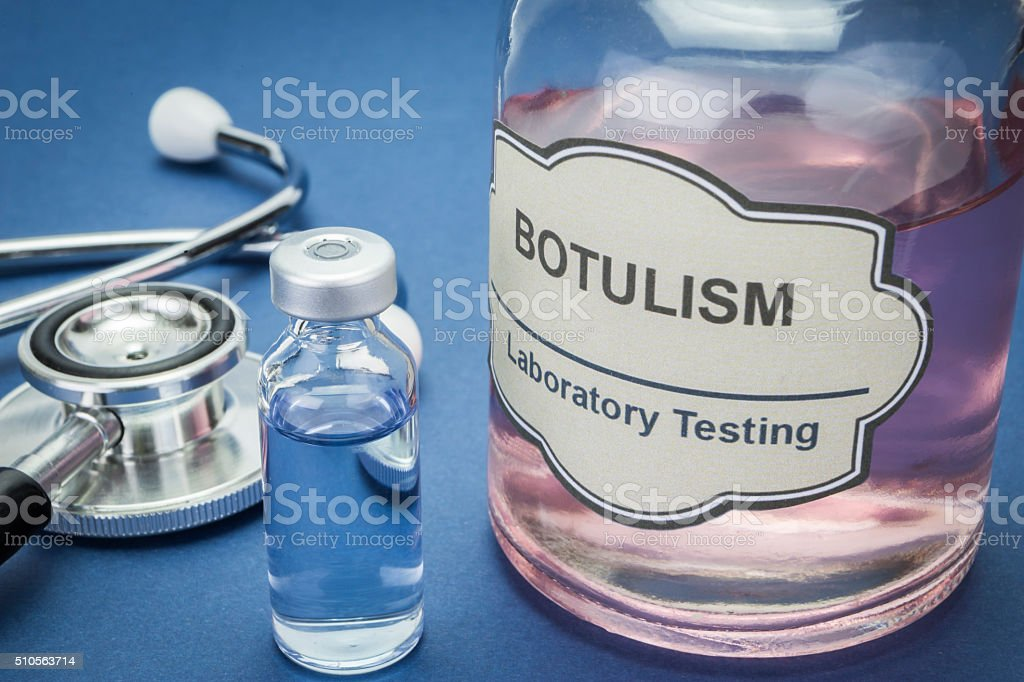 Sample of botulism in laboratory, concept of health - Royalty-free Bacterium Stock Photo