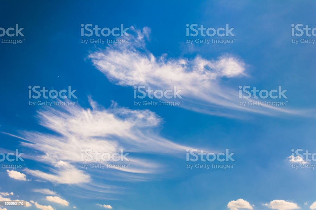 Sample of cirrus clouds stock photo