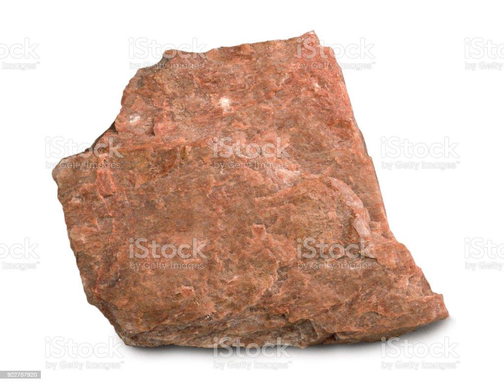 Sample of feldspar mineral isolated on white background stock photo