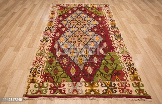 Sample of traditional handmade Turkish carpets/There are many meanings in these patterns/Ankara. Ankara/TURKEY 09/26/2018