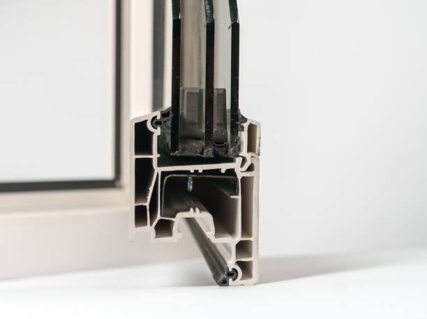 Sample of window profile on white background