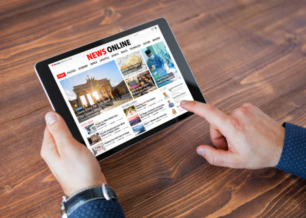 Probe-Online-News-Website auf tablet – Foto