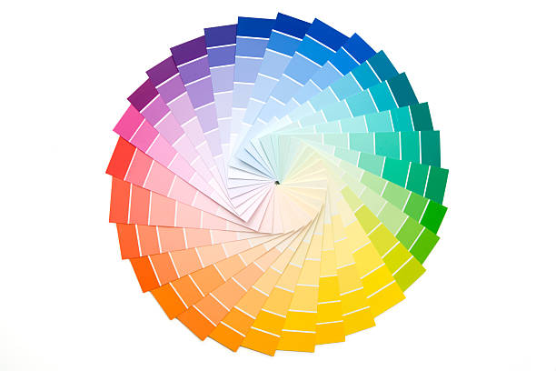 Sample Paint Color Palette stock photo