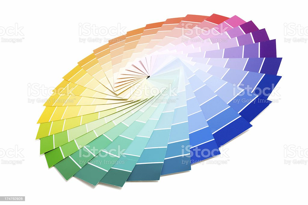 Sample Paint Color Palette royalty-free stock photo