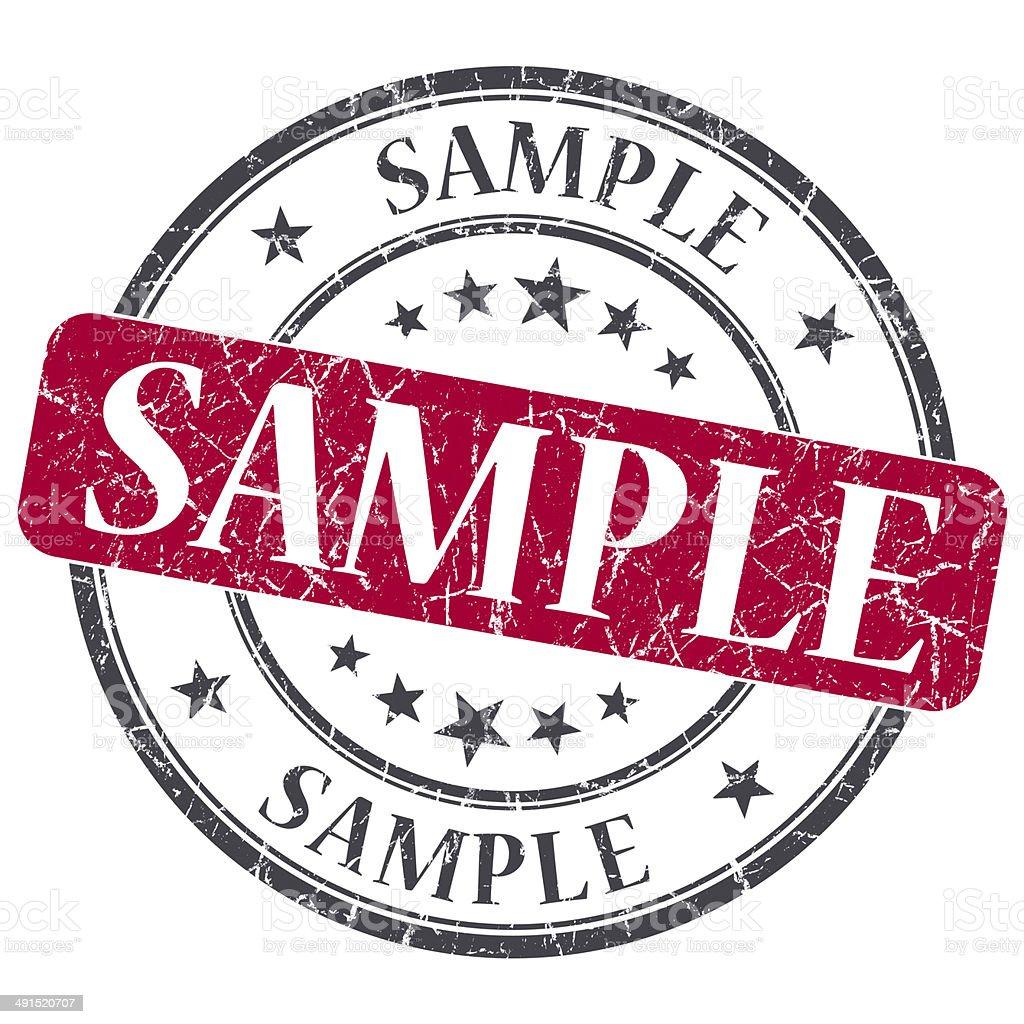 Experimente o carimbo grunge vermelho sobre fundo branco - foto de acervo