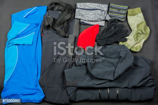 Set of clothes for hiking for spring-autumn.