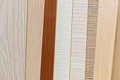 Sampler material texture sor furniture design interior. Floor catalog for decoration home. industry