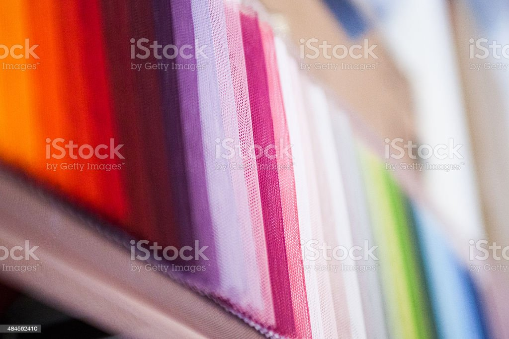 Samples, colours, fabric. stock photo