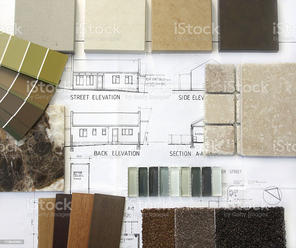 Samples for renovations royalty-free stock photo