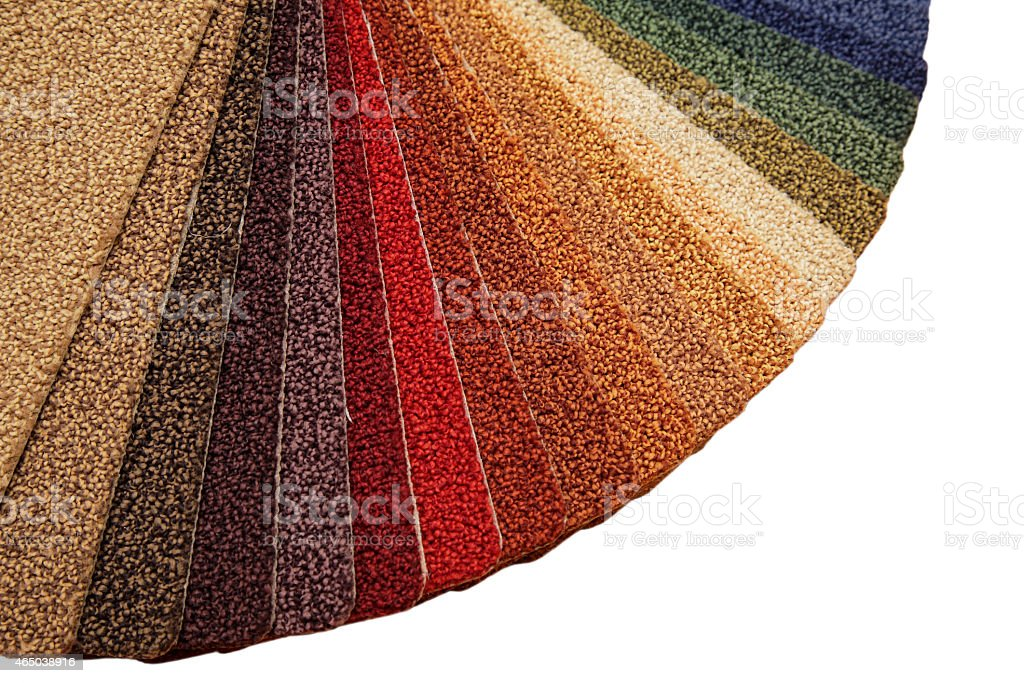 Samples of carpet covering stock photo