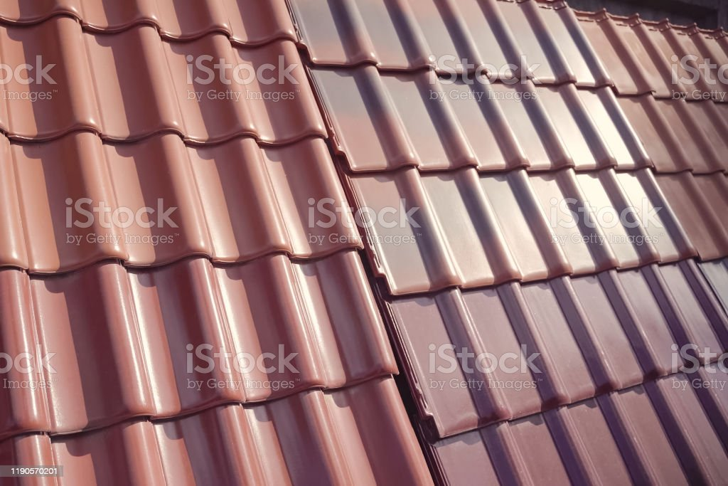 Samples Of Ceramic Roofing Tiles In A Warehouse Of A Roofing Mat Stock Photo Download Image Now Istock