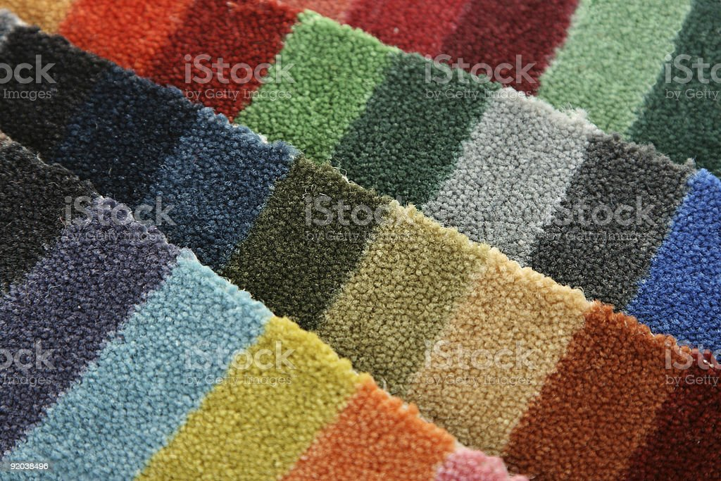 Samples of color  carpet covering stock photo