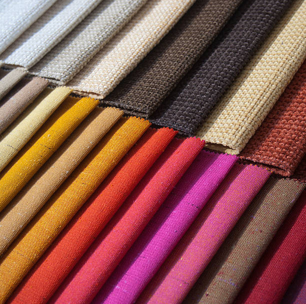 Samples of colored cloth stock photo