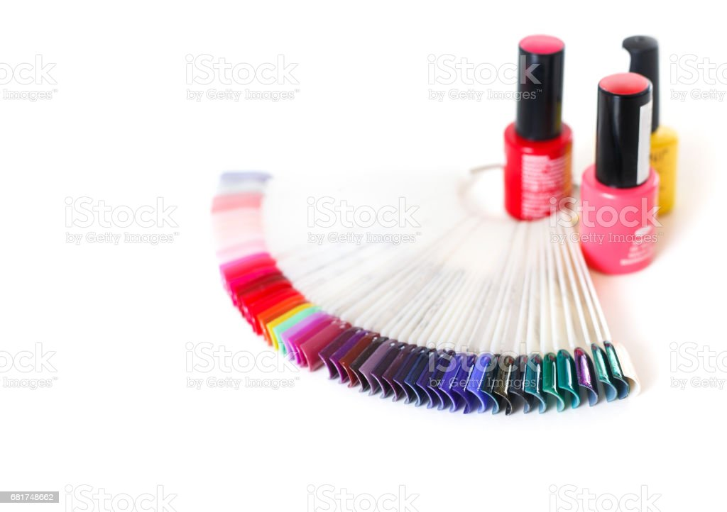 Samples Of Colored Nail Polish On A White Table Stock Photo & More ...