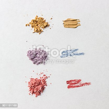 istock Samples of cosmetic products on white background, close-up. 901191168