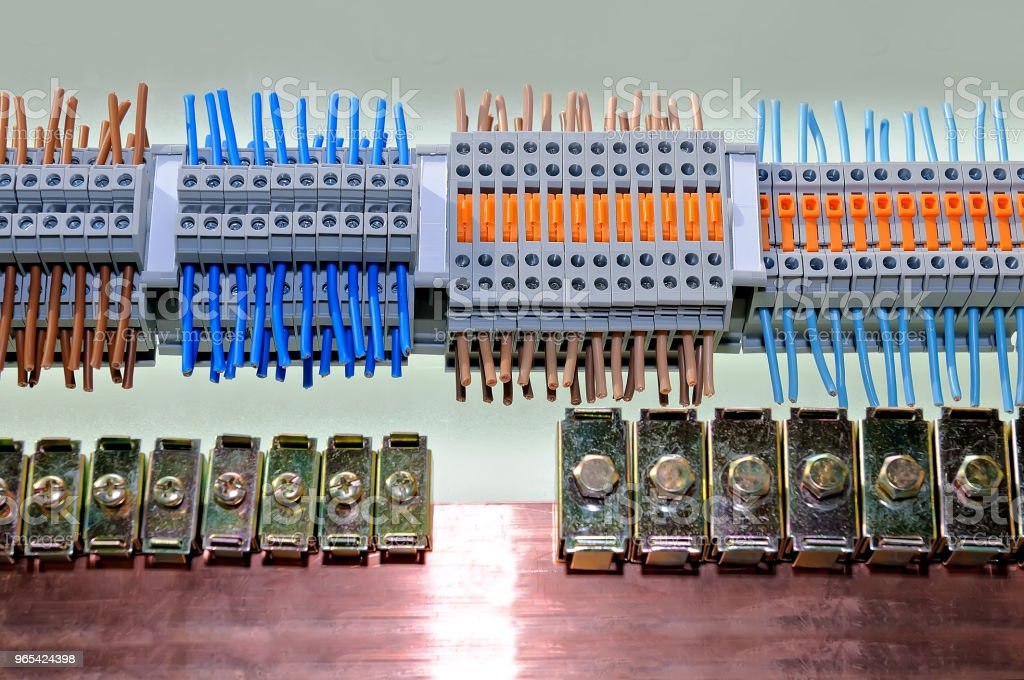 Samples of different types of electrical connectors royalty-free stock photo