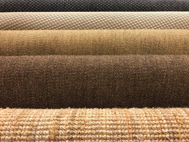 samples of different woven carpet texture from sisal and natural fiber for background - sisal stock pictures, royalty-free photos & images
