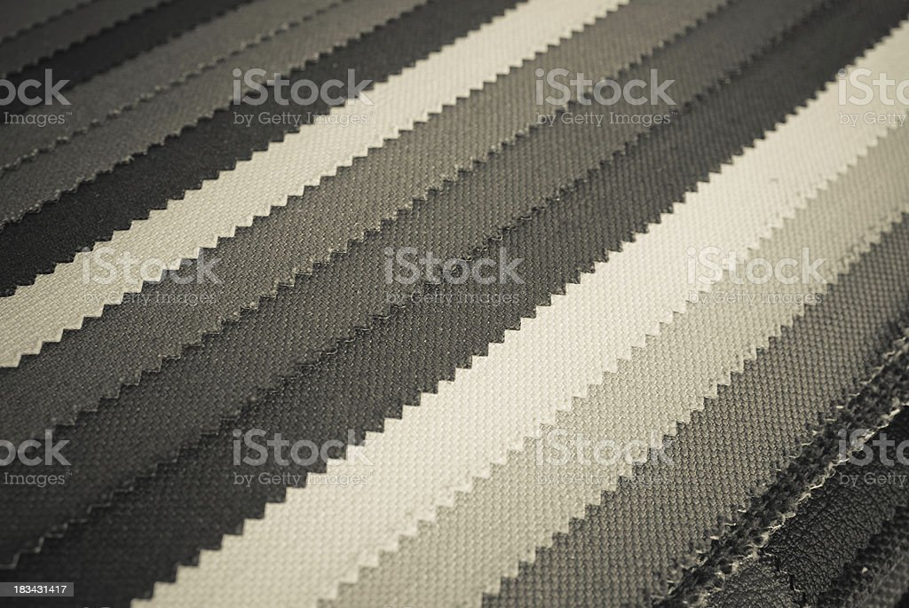 Samples of mono-colored cloth royalty-free stock photo