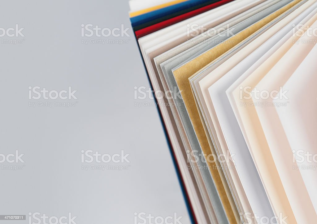 Samples of Paper royalty-free stock photo