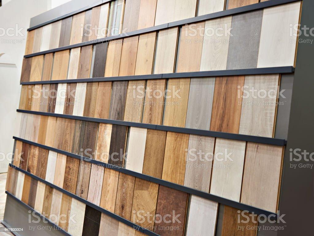 Amostras de painéis laminados de madeira - foto de acervo