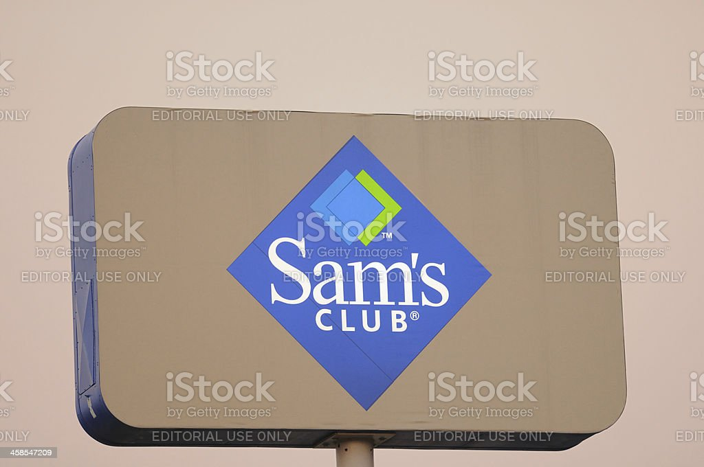 Sam's club road sign stock photo