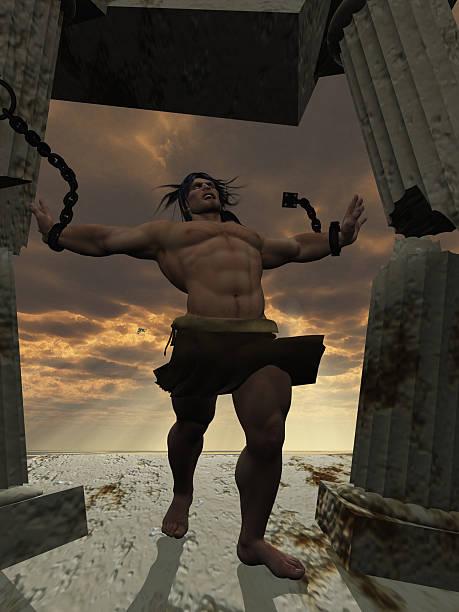 Samson bringing down the temple stock photo