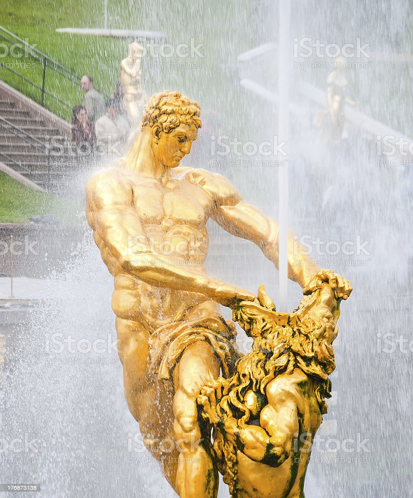 Samson statue royalty-free stock photo