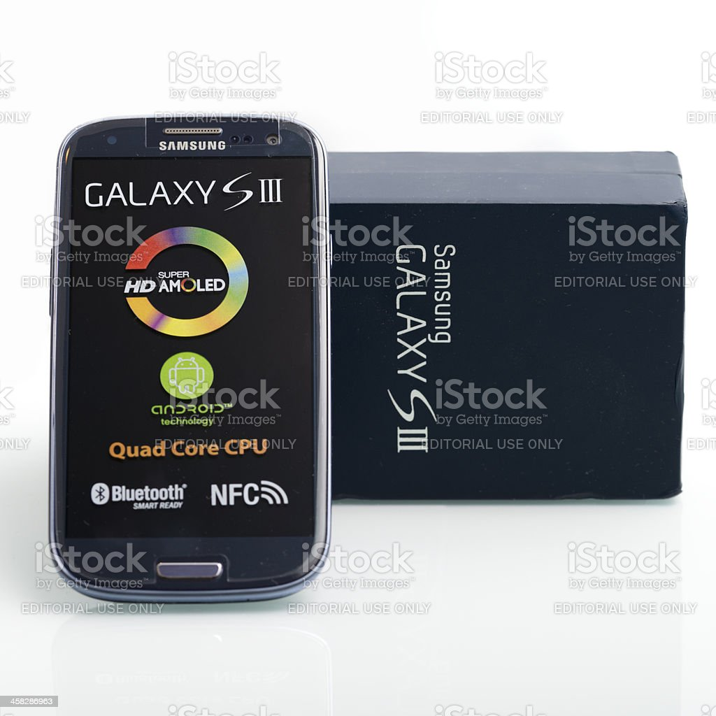 Samsung Galaxy 3 royalty-free stock photo