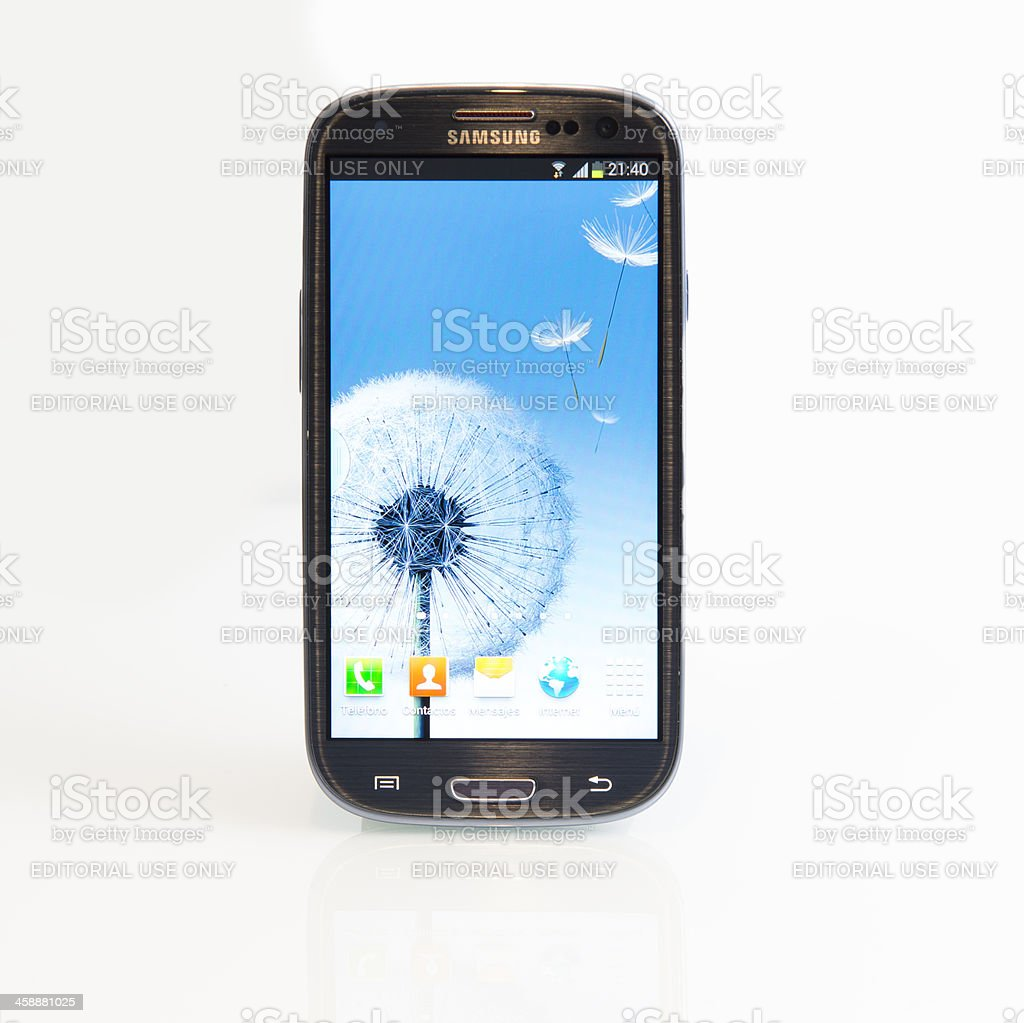 Samsung Galaxy 3 stock photo