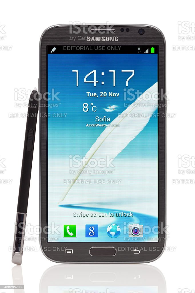 Samsung Galaxy Note 2 Stock Photo - Download Image Now - iStock