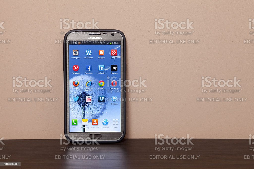 Samsung Galaxy Note 2 XXXL royalty-free stock photo