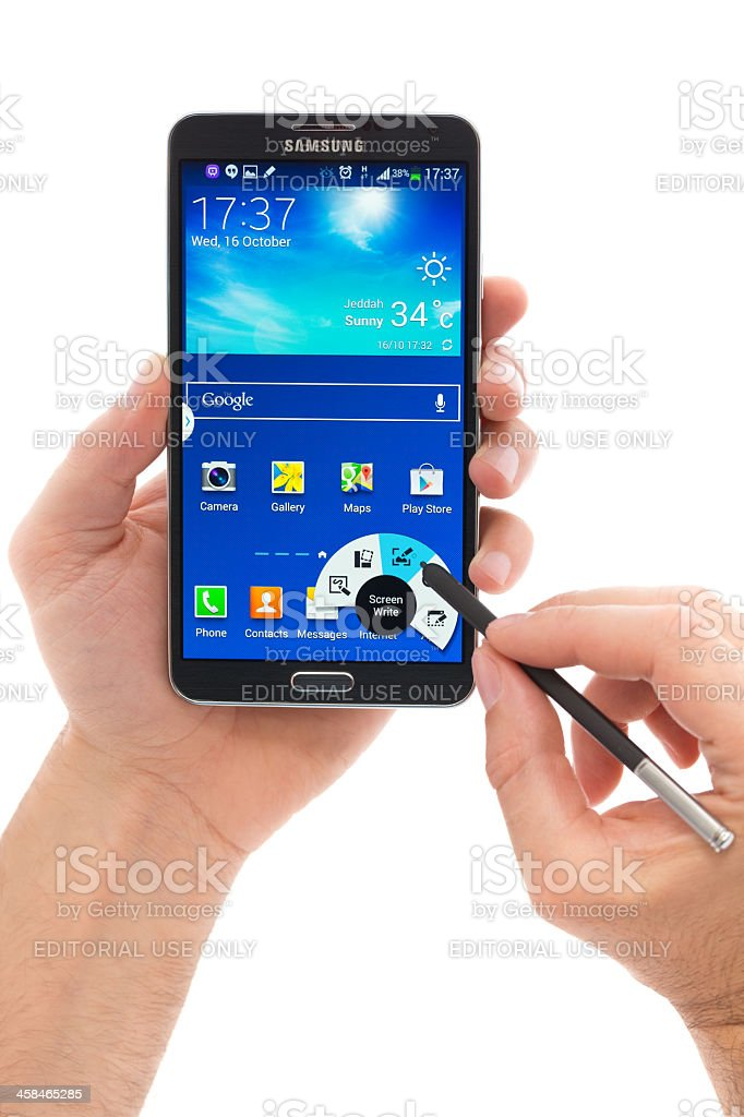 Samsung Galaxy Note 3 royalty-free stock photo
