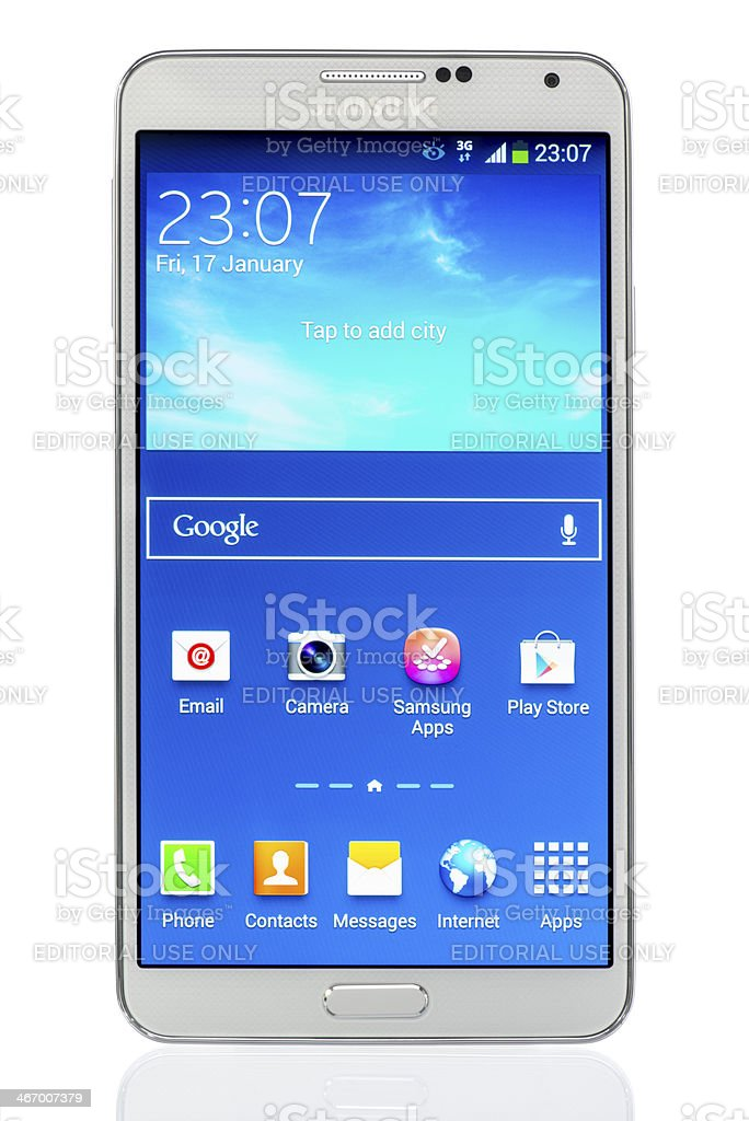 Samsung Galaxy Note 3 stock photo