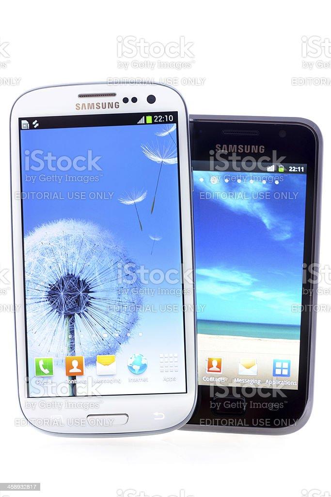 Samsung Galaxy royalty-free stock photo