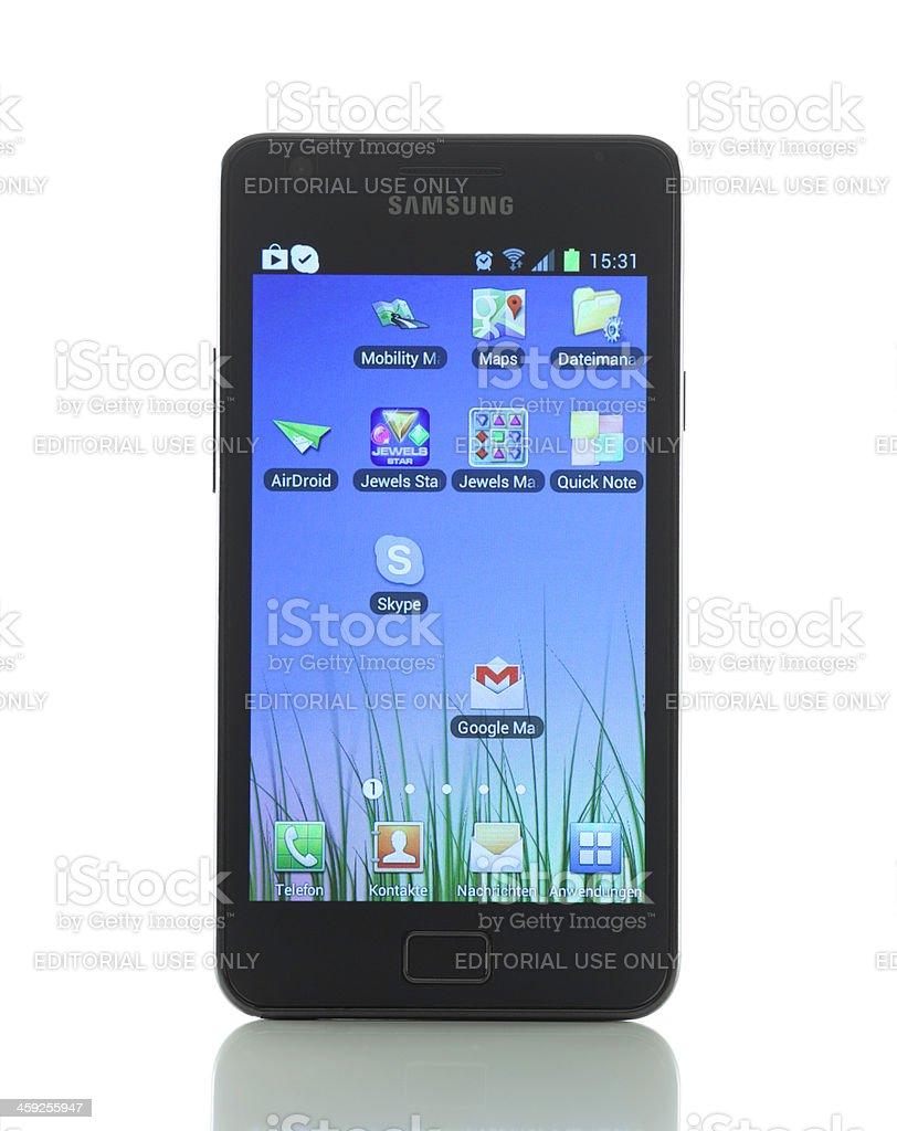 Samsung Galaxy S II royalty-free stock photo