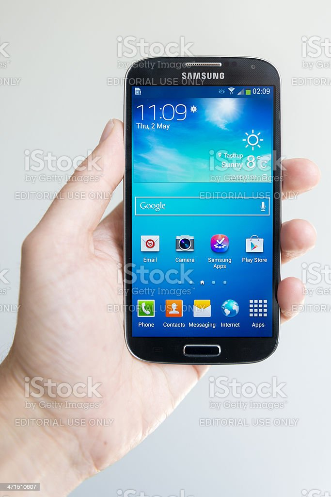 Samsung Galaxy S4 stock photo